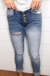 Wear Me Out Distressed Jeans