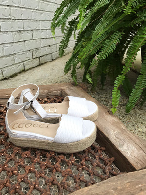 Everly White Wedge
