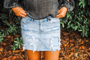 Beat The Odds Denim Skirt