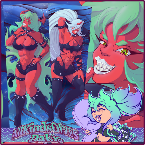 Panty & Stocking with Garterbelt【Scanty & Kneesocks】Double Sided Pillowcase