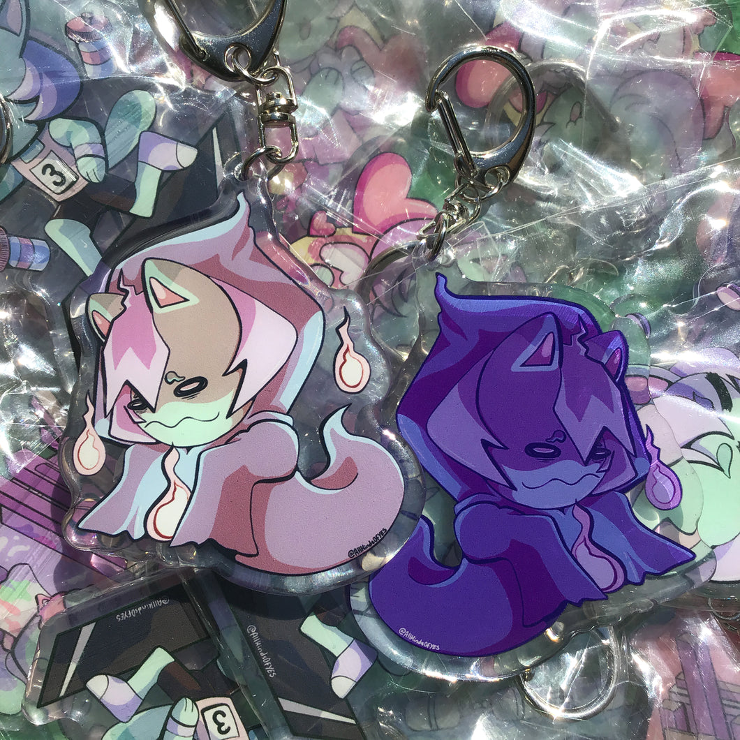 Mint Spooky Double Epoxy Charm