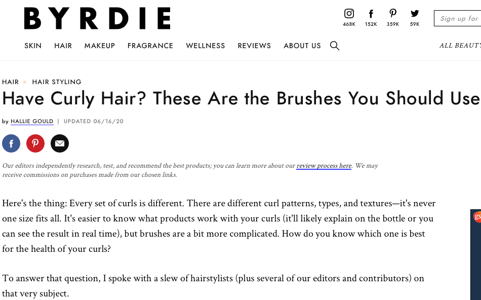 Have Curly Hair? These are the brushes you should use.