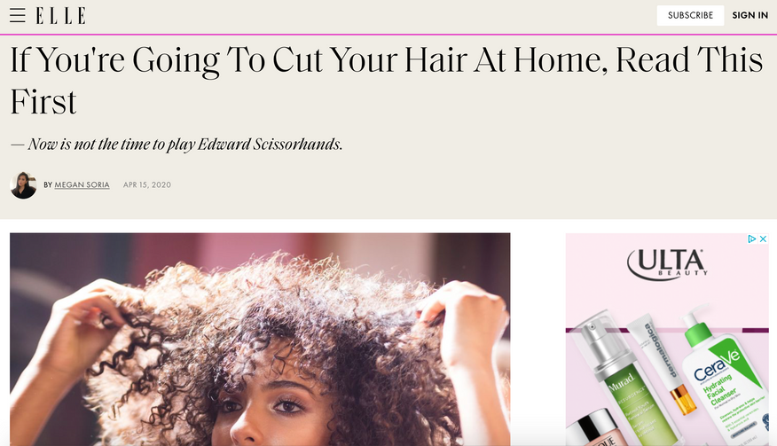 If You're Going To Cut Your Hair At Home, Read This First