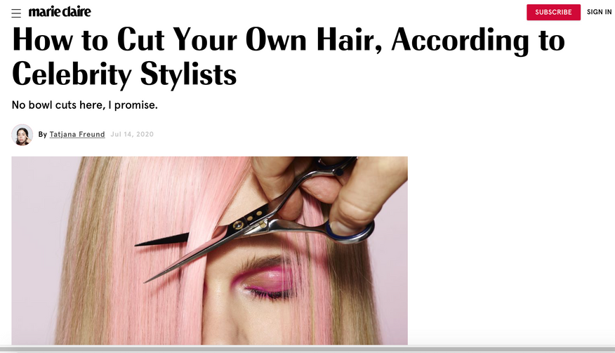 How to Cut Your Own Hair, According to Celebrity Stylists