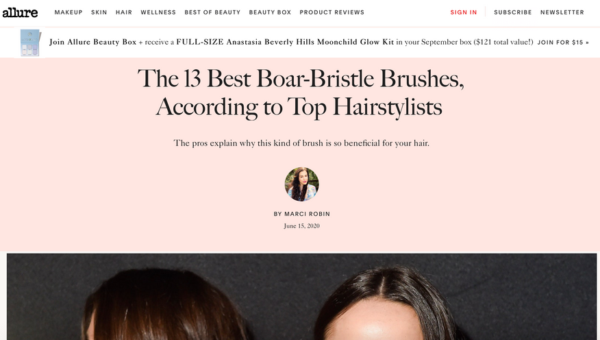 The 13 Best Boar-Bristle Brushes, According to Top Hairstylists