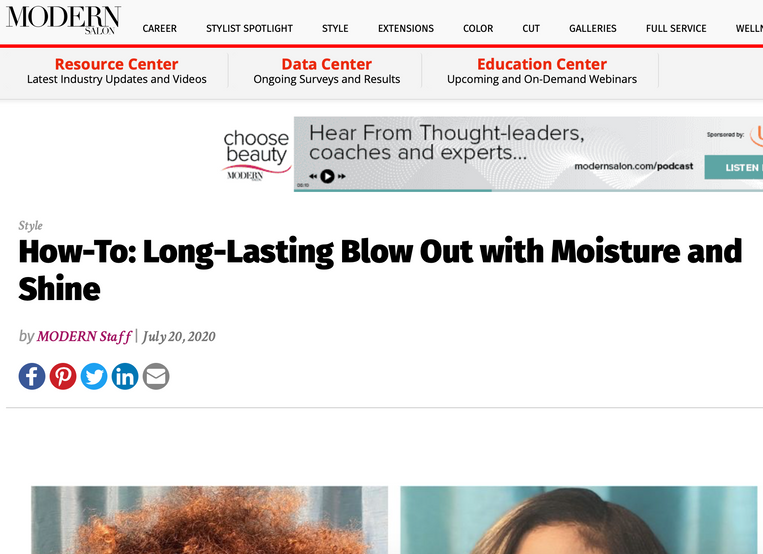 How-To: Long-Lasting Blow Out with Moisture and Shine