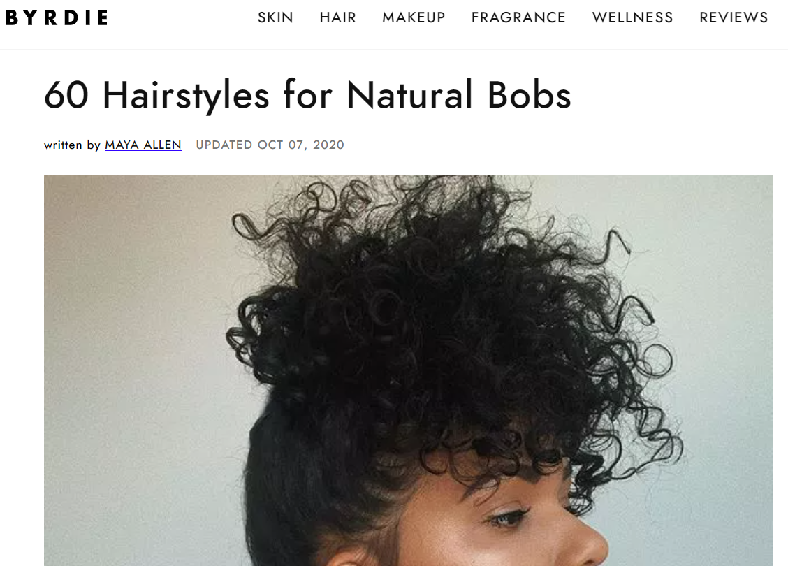 60 Hairstyles for Natural Bobs