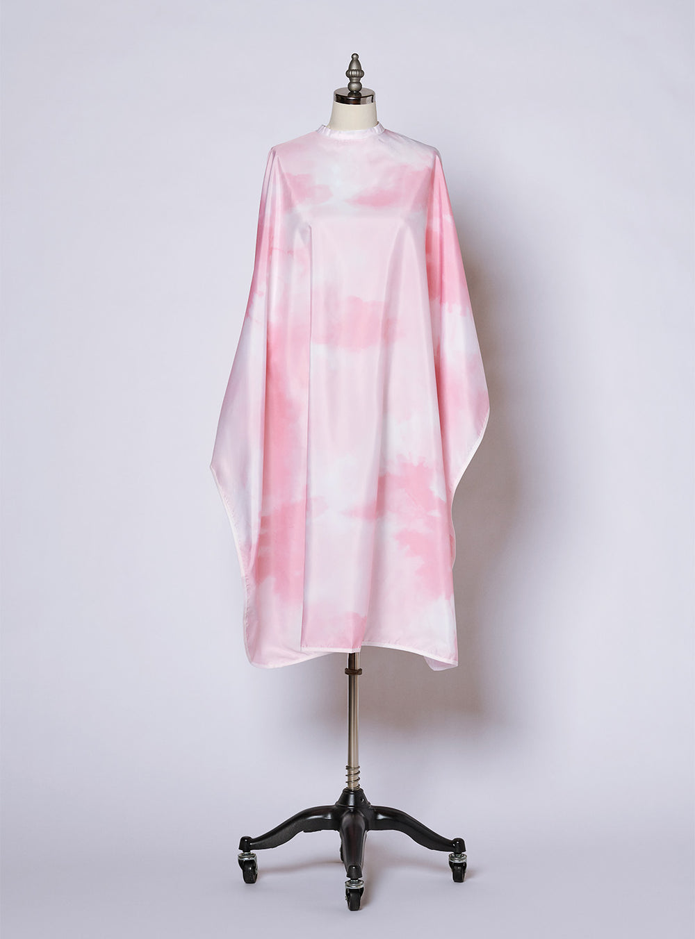 Fromm Pro professional salon pink tie dye print hairstyling cape display