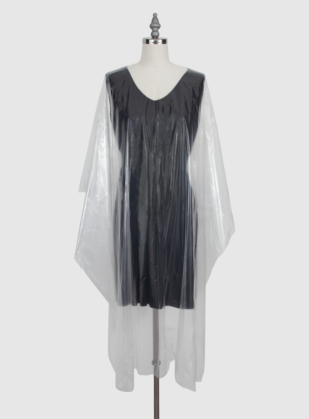 Fromm Pro Professional Salon clear disposable cape on mannequin