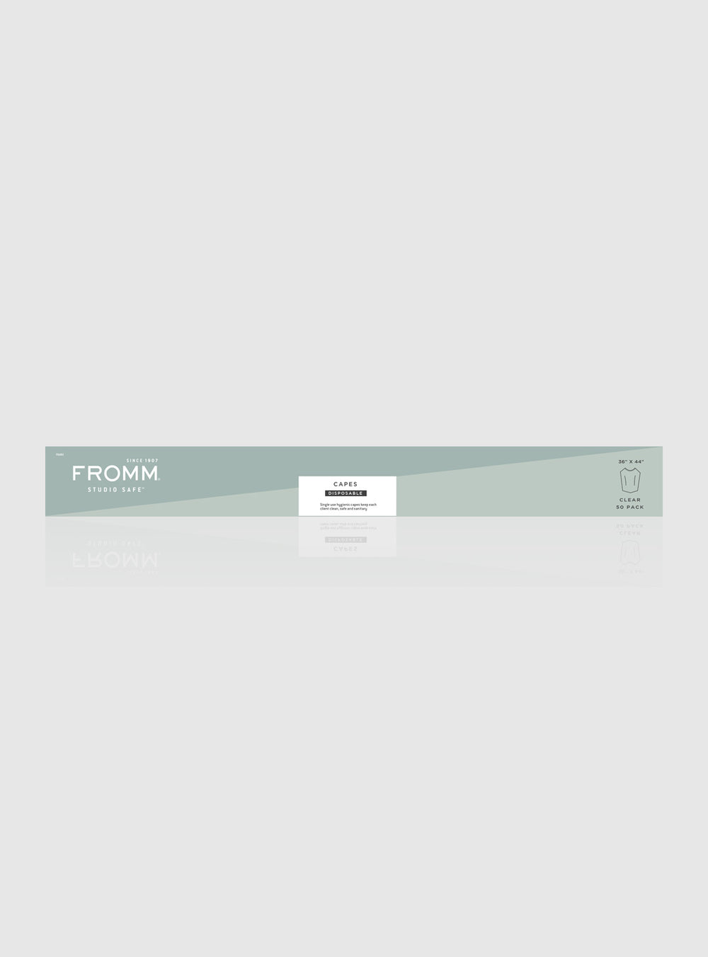 Fromm Pro Professional Salon clear disposable capes in packaging