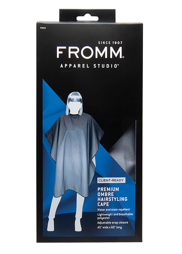 Fromm Pro professional salon premium client ombre print hair cutting cape in packaging