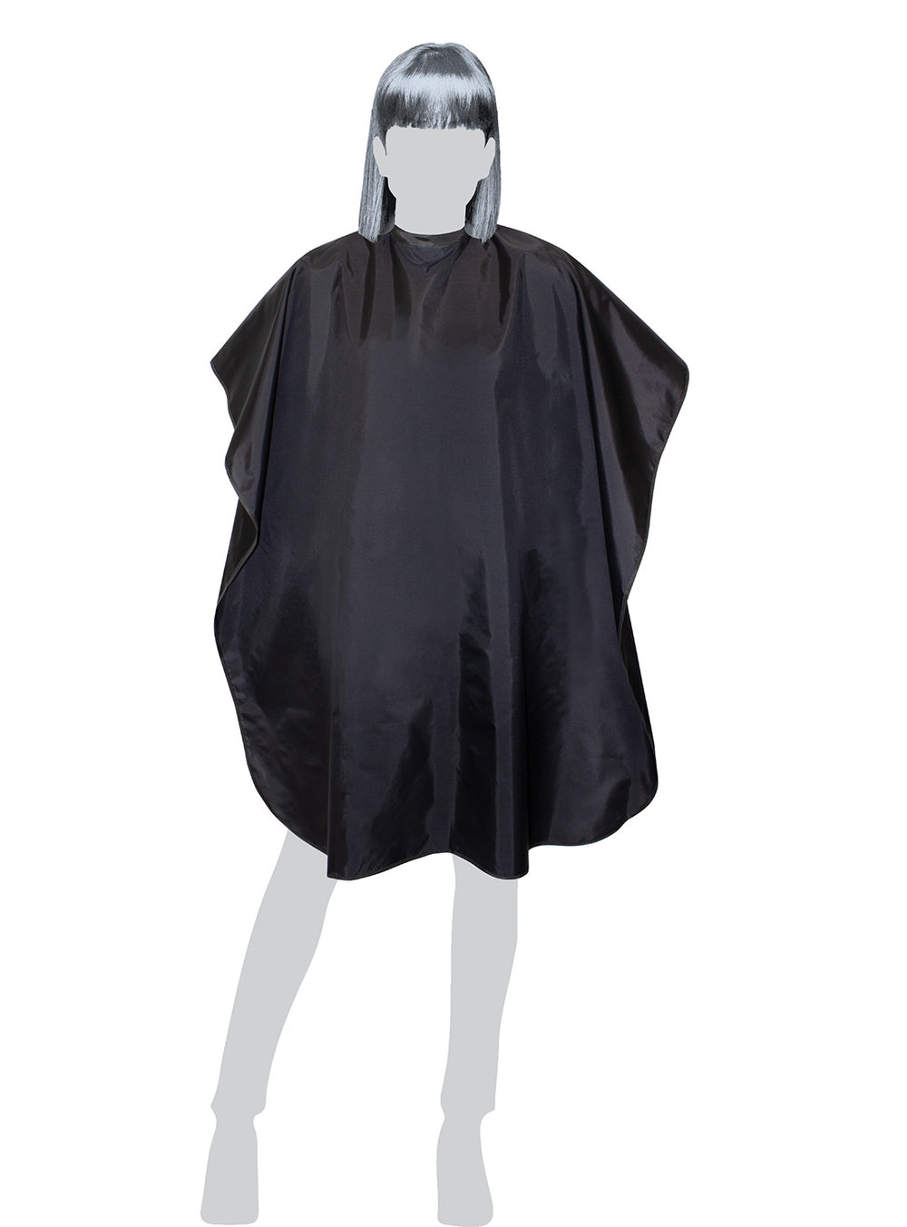Fromm Pro Professional Salon Teflon® Coated Black Hairstyling Cape on mannequin