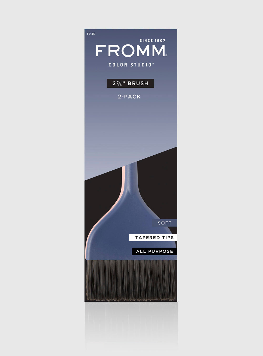"Fromm Pro Professional Hair Salon 2 7/8"" Soft Color Brush 2 Pack in Packaging"