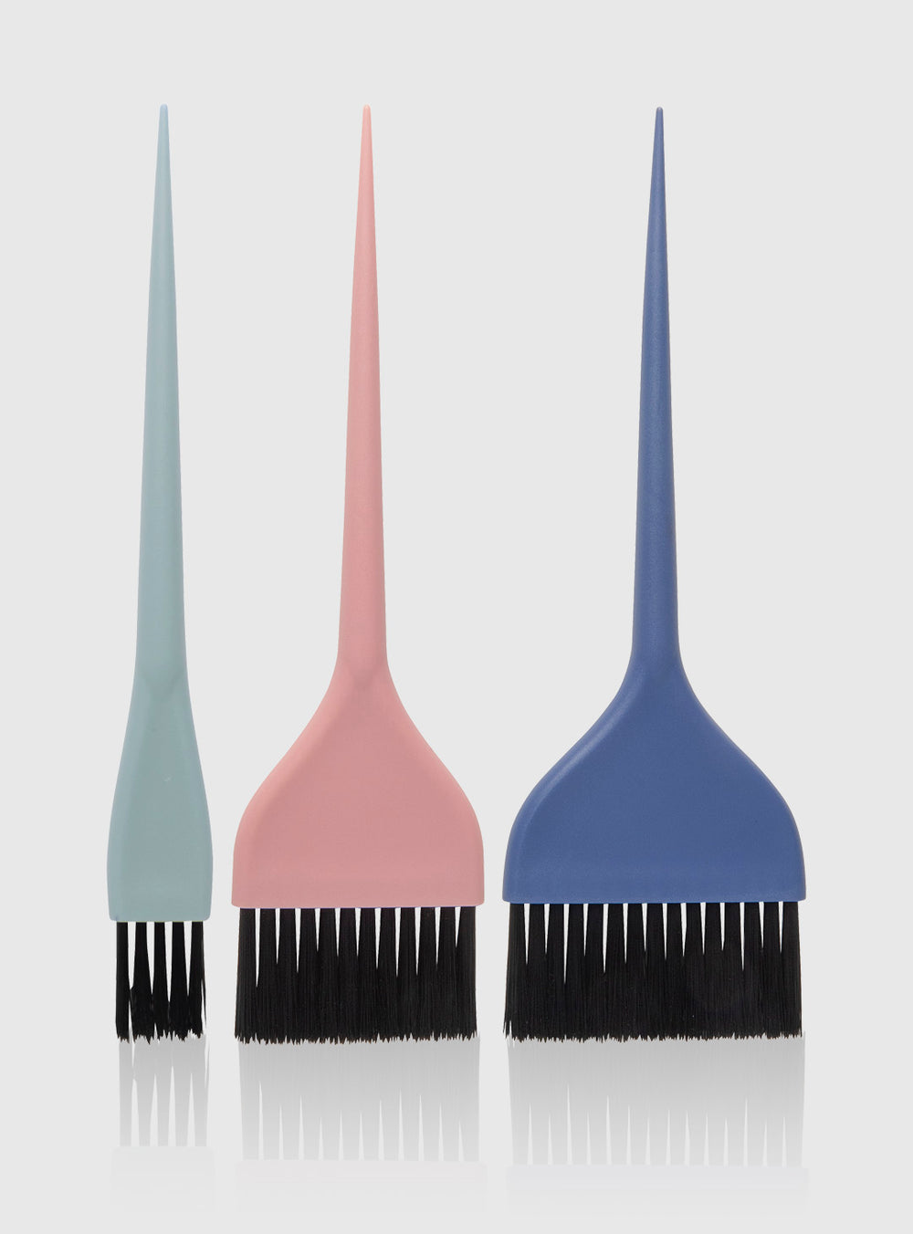Fromm Pro Professional Salon Pastel Soft Black Bristle Brush 3 Pack Set For Hair Color Application