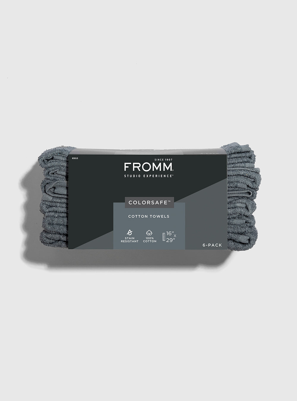 Fromm Pro Professional Hair Salon 6 pack of grey Colorsafe Cotton Towels