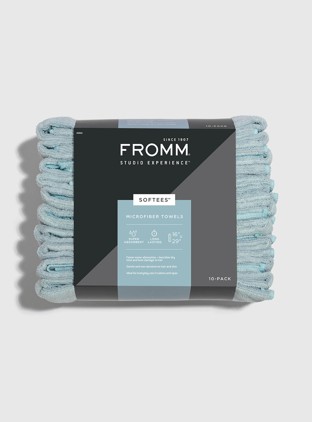 Fromm Pro Professional Hair Salon 10 Pack of Softees Microfiber Aqua Towels
