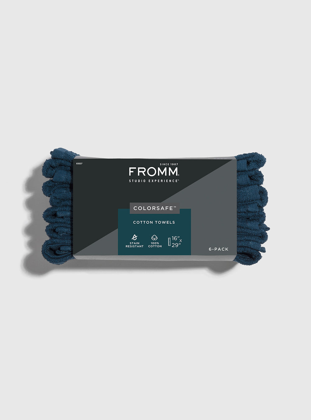 Fromm Pro Professional Hair Salon 6 pack of navy colored Colorsafe Cotton Towels