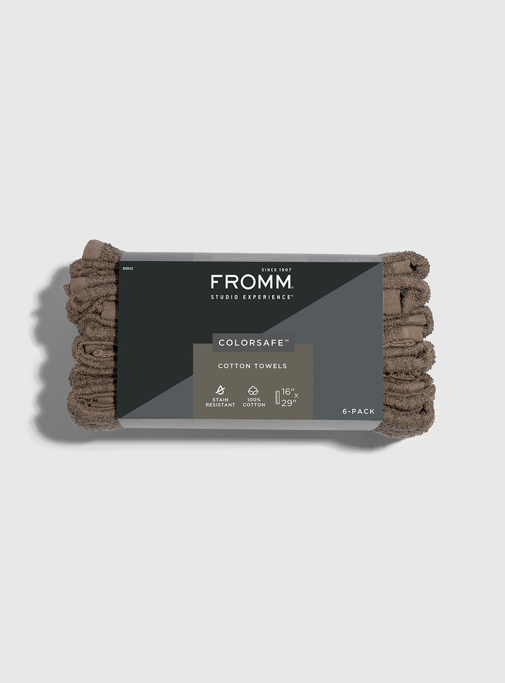 Fromm Pro Professional Hair Salon 6 Pack of Brown Colorsafe Cotton Towels
