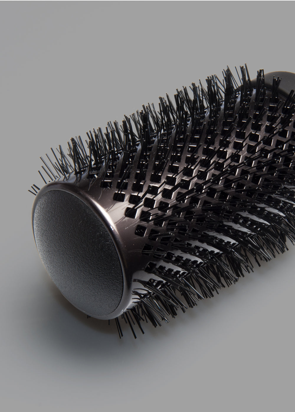 "Fromm Pro Professional Salon Elite Thermal 2"" Black Ceramic Round Brush bristles close-up"