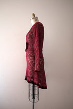 Load image into Gallery viewer, vintage 1930s lace dress with belt