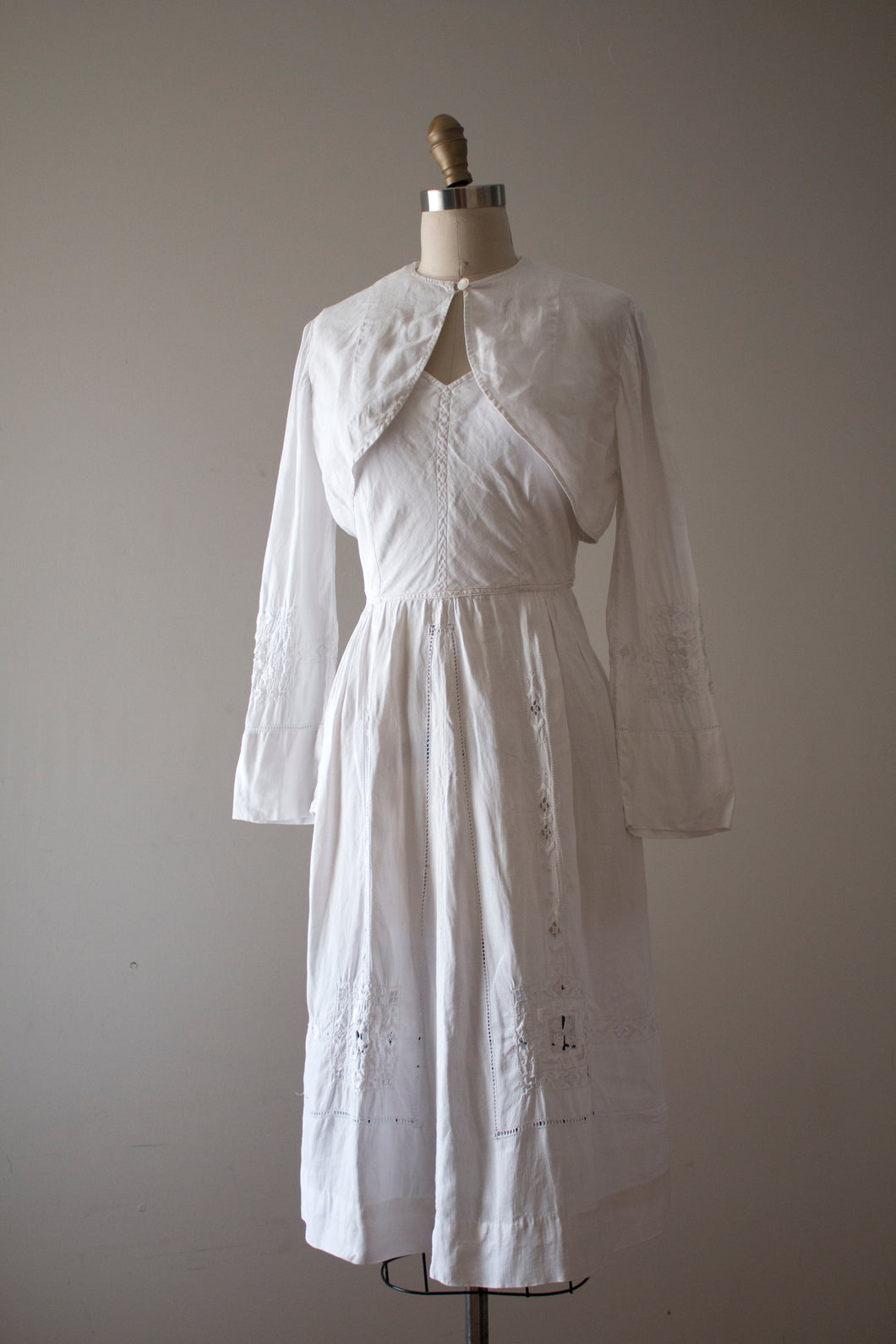 vintage 1930s Edwardian sun dress set