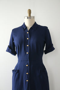 vintage 1950s Bamboo button dress