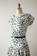 Load image into Gallery viewer, vintage 1950s leopard dress