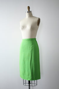 vintage 1960s lime green skirt