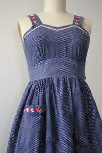 vintage 1940s polka dot sun dress