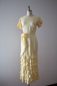 vintage 1930s yellow NRA gown