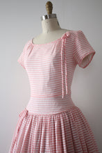Load image into Gallery viewer, vintage 1950s Pat Premo striped dress