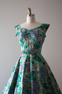 vintage 1950s Alix of Miami butterfly dress