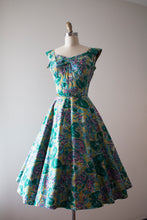 Load image into Gallery viewer, vintage 1950s Alix of Miami butterfly dress