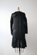 Load image into Gallery viewer, vintage 1920s black satin dress