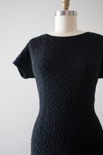 Load image into Gallery viewer, vintage 1950s 60s wool knit beaded dress
