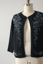 Load image into Gallery viewer, vintage 1960s beaded cardigan sweater