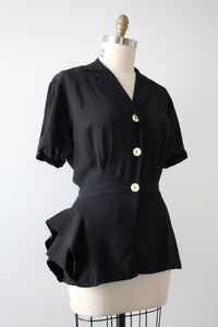 vintage 1940s asymmetrical sports shirt