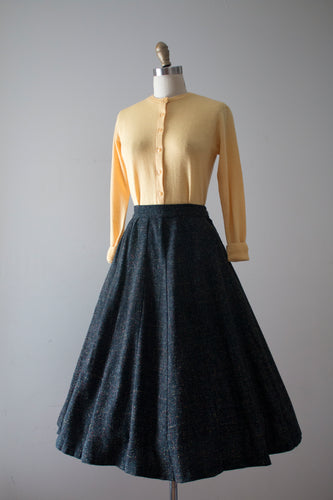 vintage 1950s flecked wool skirt