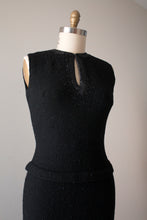 Load image into Gallery viewer, vintage 1950s Gene Shelly beaded knit dress
