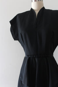 vintage 1950s black evening dress