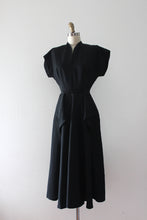 Load image into Gallery viewer, vintage 1950s black evening dress