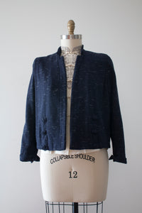 vintage 1940s blue flecked jacket
