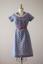 Load image into Gallery viewer, vintage 1930s depression era cotton dress