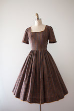 Load image into Gallery viewer, vintage 1950s cotton dress