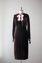 Load image into Gallery viewer, vintage 1930s silk velvet dress