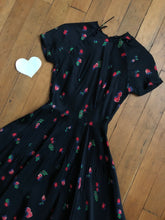 Load image into Gallery viewer, vintage 1950s Mollie Parnis novelty dress