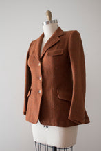 Load image into Gallery viewer, vintage 1940s burnt orange Harris Tweed jacket