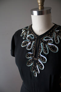 vintage 1940s sequin dress