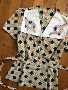 vintage 1940s cotton blouse