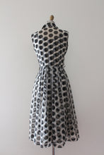 Load image into Gallery viewer, vintage 1950s polka dot dress